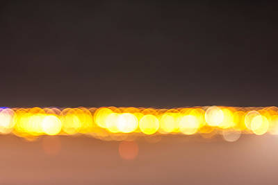 Photograph - Bokeh Lights by Semmick Photo
