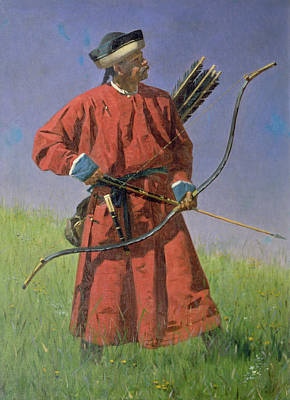 Central Asia Photograph - Bokharan Soldier Sarbaz, 1873 Oil On Canvas by Vasili Vasilievich Vereshchagin