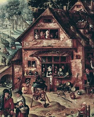 Female With Eggs Photograph - Bol, Hans 1534-1593 Bol, Hans by Everett