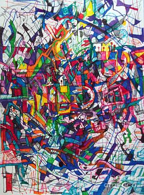Creativity Drawing - Bold As A Leopard by David Baruch Wolk