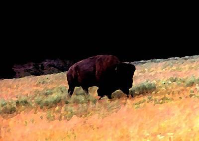 Bison Digital Art - Bold Bison by Dane Ann Smith Johnsen