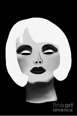 Bold Blonde Beauty Art Print