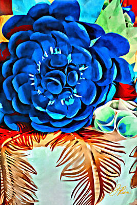 Painting - Bold Blue Flower by Joan Reese