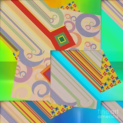 Digital Art - Bold Geometric Abstract  by Liane Wright