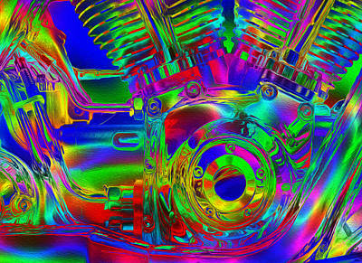 Cycles Painting - Bold Harley Davidson V Twin by Jack Zulli