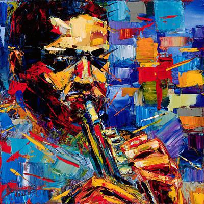 John Coltrane Painting - Bold John Coltrane by Debra Hurd