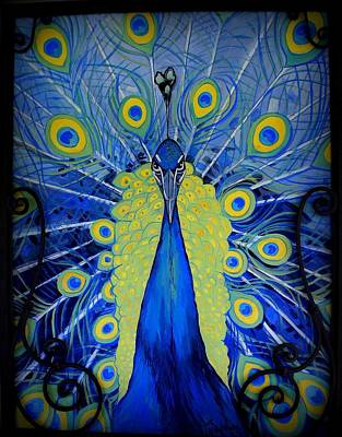 Photograph - Bold Peacock by Laurie Perry