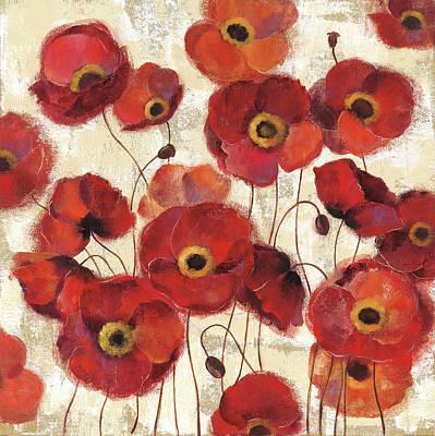 Orange Poppy Painting - Bold Poppies by Silvia Vassileva