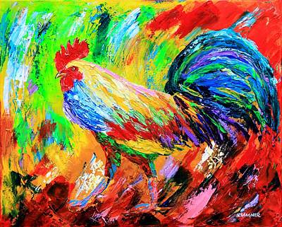 Bold Rooster Art Print by Karl Wagner
