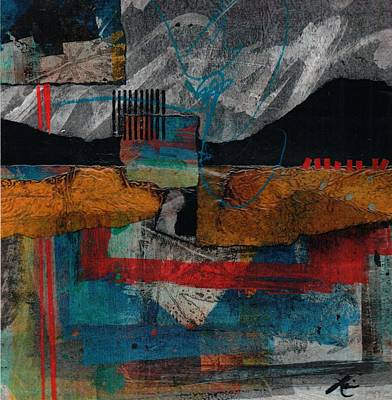 Abstract Collage Mixed Media - Bold Start by Laura  Lein-Svencner
