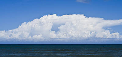 Photograph - Bold Yet Fluffy Ocean Clouds by Heather Grow