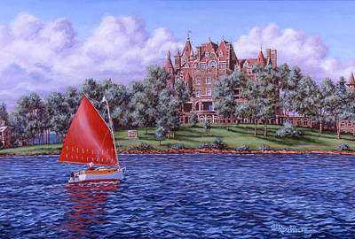 St. Lawrence River Painting - Boldt Castle by Richard De Wolfe