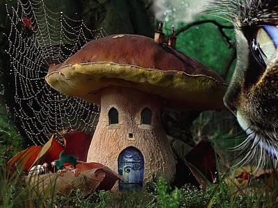 Mushroom Digital Art - Boletus Incredulis - Incredulous Porcine by Alessandro Della Pietra