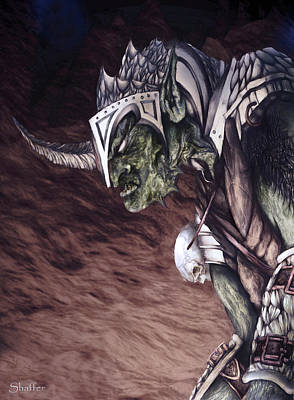 Art Print featuring the mixed media Bolg The Goblin King 2 by Curtiss Shaffer