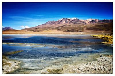 Photograph - Bolivia Desert Lake Framed by For Ninety One Days