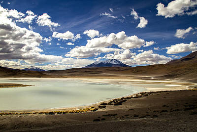 Photograph - Bolivia Lagoon Clouds by For Ninety One Days
