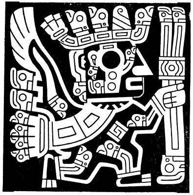 Primitive Drawing - Bolivia Tiahuanaco Figure by Granger