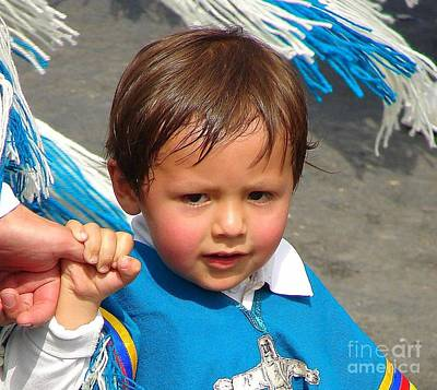 Photograph - Bolivian Boy In A Parade by Lew Davis
