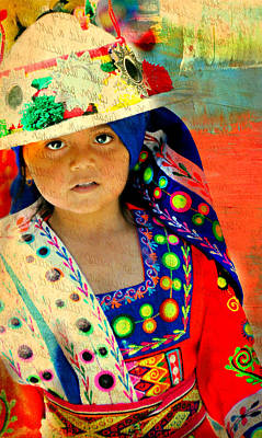 Port Chester Photograph - Bolivian Child by Diana Angstadt
