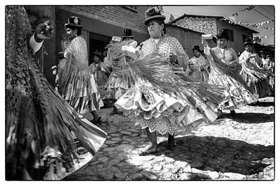 Photograph - Bolivian Dance Framed Black And White by For Ninety One Days