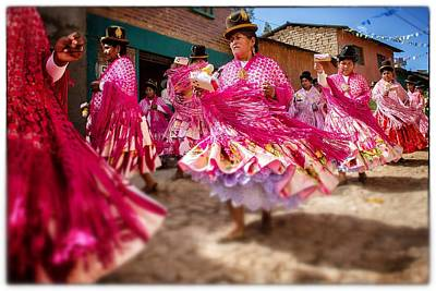Photograph - Bolivian Dance Framed Select Focus by For Ninety One Days