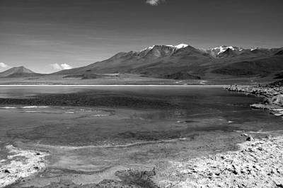 Photograph - Bolivian Desert Lake Black And White by For Ninety One Days
