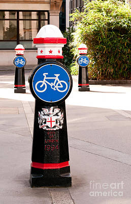 Photograph - Bollards by Rick Piper Photography