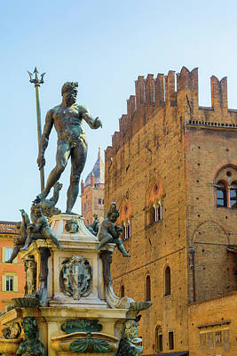 Bologna, Emilia-romagna, Italy. Fontana Art Print