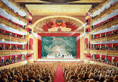Art Print featuring the painting Bolshoi Ballet by Lora Serra