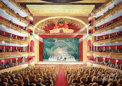 Painting - Bolshoi Ballet by Lora Serra