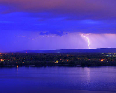 Bolt Over Gatineau Hills  Art Print