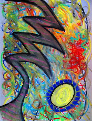Chalk Pastel Mixed Media - Bolted Upswing by Shannon Kringen