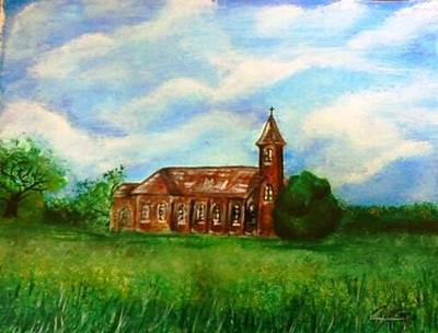 Gypsy Painting - Bomarton Church by The GYPSY And DEBBIE