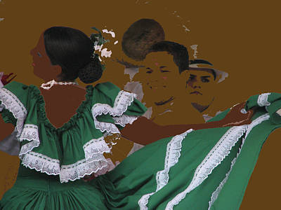 Bomba Dancers Art Print