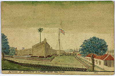 Bombay Photograph - Bombay Castle From The West by British Library