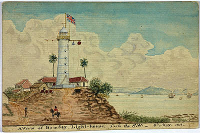 Bombay Photograph - Bombay Lighthouse by British Library