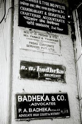 Accountancy Wall Art - Photograph - Bombay Professionals by Shaun Higson