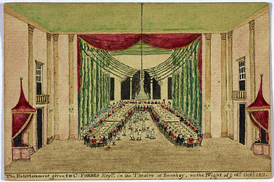 Bombay Photograph - Bombay Theatre 16th October 1811 by British Library