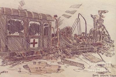 Bombed Hospital Train Ww II Art Print