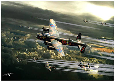 Lancaster Bomber Digital Art - Bomber Stream by Peter Van Stigt