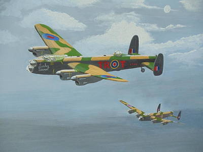 Painting - Bombers Moon by James Lawler