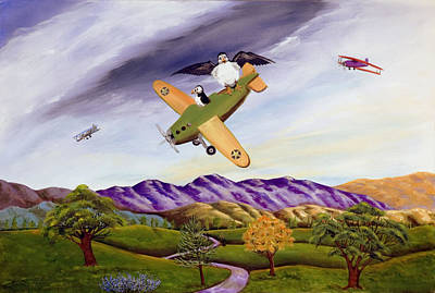 Art Print featuring the painting Bombs Away by Susan Culver