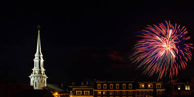 Brilliant Fireworks Photograph - Bombs Bursting In Air Portsmouth Nh by Jeff Sinon