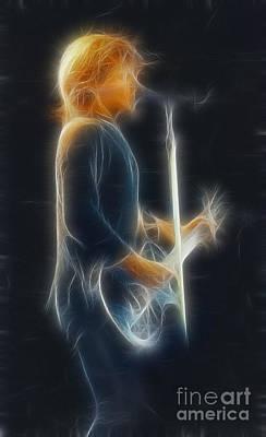 Bon Jovi-jon-ga12-fractal Art Print