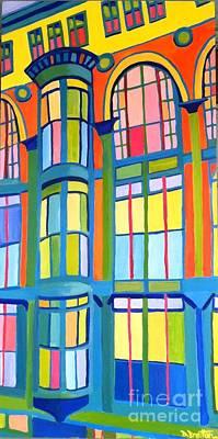 Bon Marche Building Lowell Original by Debra Bretton Robinson