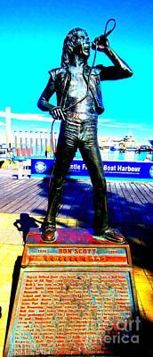Bon Scott Ac Dc Singer Fremantle Art Print by Roberto Gagliardi