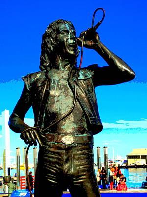Bon Scott Ac Dc Statue In Fremantle Art Print by Roberto Gagliardi