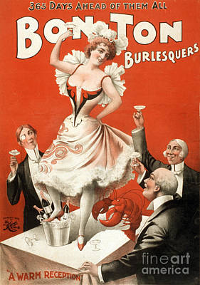 Suggestive Photograph - Bon Ton Burlesquers, 1898 by Photo Researchers