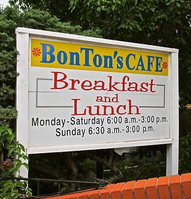 Photograph - Bon Tons Cafe by Jeff Gater