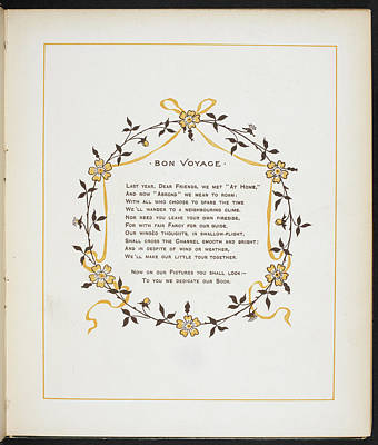 Bon Voyage. A Verse And Dedication Art Print